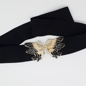 Accessories - Vintage butterfly clasp stretch belt